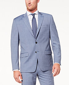 CLOSEOUT! Lauren Ralph Lauren Men's Slim-Fit Ultraflex Stretch Light Blue Tic Suit Jacket