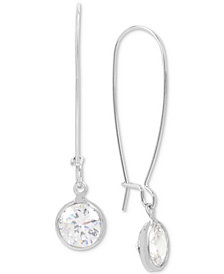 Touch of Silver Crystal Drop Earrings in Silver-Plate