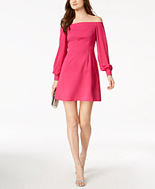 Jill Jill Stuart Off-The-Shoulder A-Line Dress, Created for Macy's
