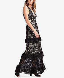Avec Les Filles Lace Cutout Maxi Dress