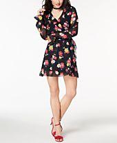XOXO Juniors' Ruffled Wrap Dress