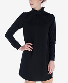 Verona Collection Silva Ruffled Mock-Neck Top