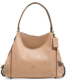 COACH Edie 31 Medium Shoulder Bag with Patchwork Tea Rose
