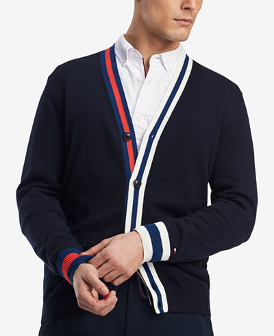 Tommy Hilfiger Men's Adam Colorblocked Cardigan, Created for Macy's