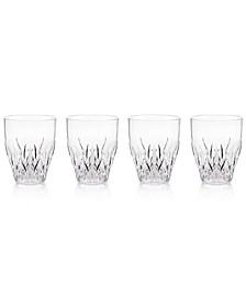 Aurora Clear Stemless Wine Glasses, Set of 4