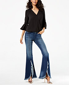 I.N.C. Surplice Top & Floral-Print Pants, Created for Macy's