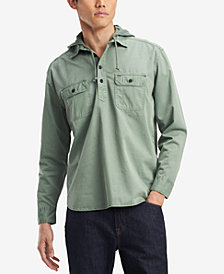 Tommy Hilfiger Denim Men's Ben Hooded Popover Shirt