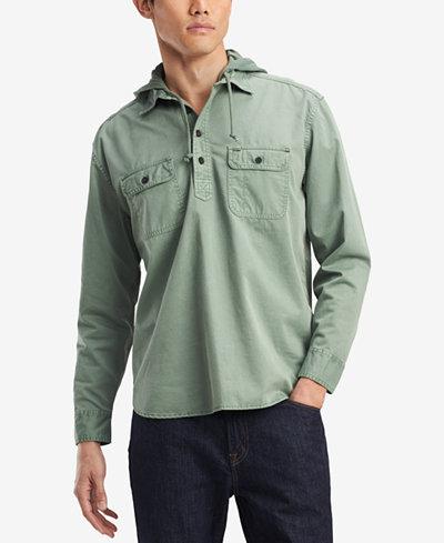 Tommy Hilfiger Denim Men's Ben Hooded Popover Shirt