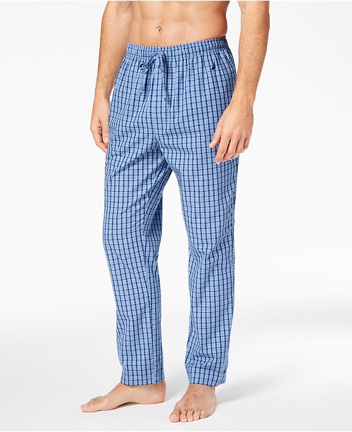 Nautica Mens Woven Plaid Pajama Pants Pajamas Lounge Sleepwear