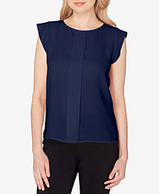 Tahari ASL Flutter-Sleeve Top, Regular & Petite