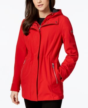 Layered Softshell Coat, Red Apple