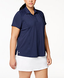 Ideology Plus Size Golf Polo, Created for Macy's