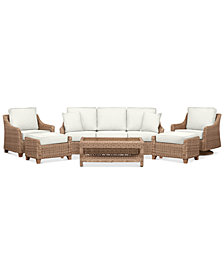 Willough Outdoor 6-Pc. Set (1 Sofa, 1 Club Chair, 1 Swivel Glider, 1 Coffee Table & 2 Ottomans), Created for Macy's