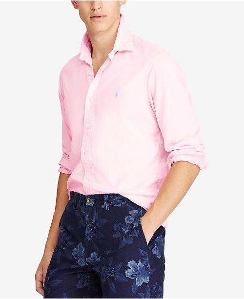 10df0d9da15 Polo Ralph Lauren Men s Classic Fit Garment Dyed Chino Shirt ...