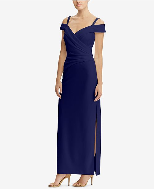 b855306a36bc Lauren Ralph Lauren Ruched Off-The-Shoulder Gown & Reviews - Dresses ...