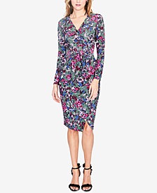 RACHEL Rachel Roy Floral-Print Self-Tie Wrap Dress