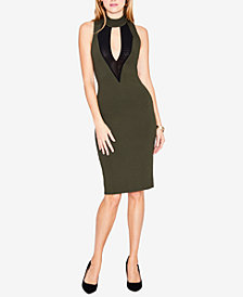 RACHEL Rachel Roy Corset & Mesh Bodycon Dress