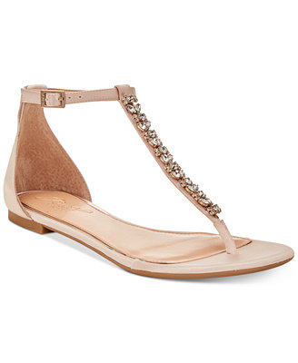 Gaby Flat Evening Sandals, Created For Macy's by Jewel Badgley Mischka