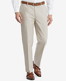 Men's Modern-Fit Flex Stretch Tan Suit Pants