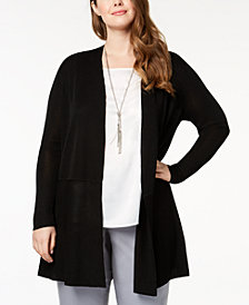 Anne Klein Plus Size Open Duster Cardigan