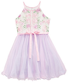 Us Angels Embroidered Bodice Dress, Big Girls
