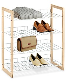 Closet Storage Shelves, Wood and Chrome