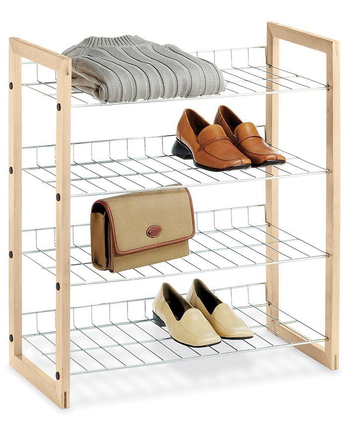 Whitmor - Closet Storage Shelves, Wood and Chrome