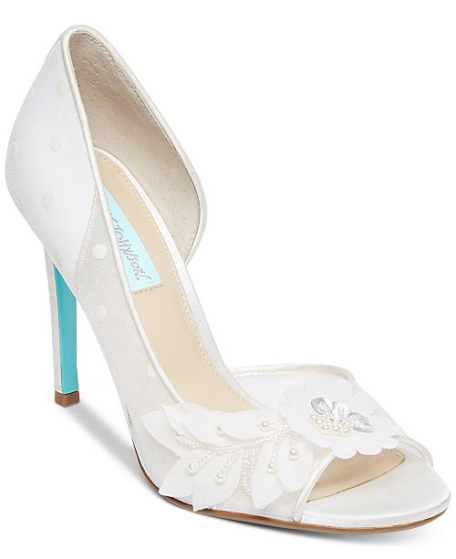 Betsey Johnson Blue by Anise Peep-Toe d'Orsay Evening Pumps Women's Shoes A9RyMs