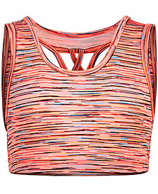 Ideology Space-Dye Sports Bra, Big Girls, Created for Macy's