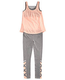 Ideology Layered-Look Tank Top & Leggings Separates, Big Girls, Created for Macy's