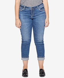 Silver Jeans Co. Plus Size Suki Slim Ankle Jeans