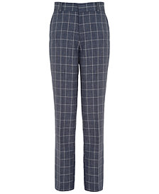 Tommy Hilfiger Striated Windowpane Pants, Big Boys