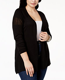 Belldini Plus Size High-Low Cardigan