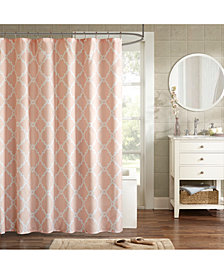 "Madison Park Essentials Merritt 72"" x 72"" Fretwork-Print Shower Curtain"