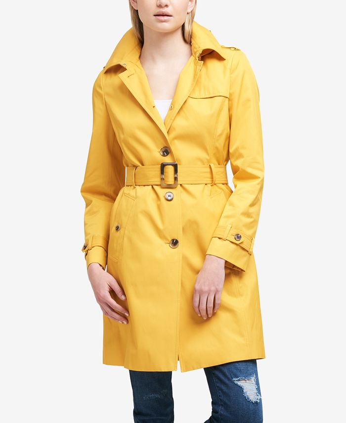 DKNY - Hooded Belted Trench Coat