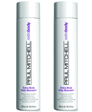 Paul Mitchell Extra-Body Daily Shampoo Duo (Two Items), 10.14-oz, from Purebeauty Salon & Spa