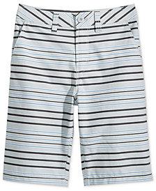 Univibe Bridgeport Striped Cotton Shorts, Big Boys Husky