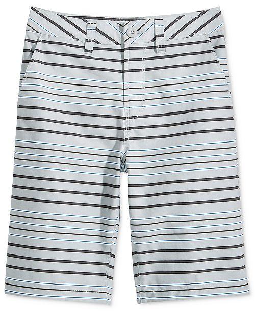 Univibe Bridgeport Striped Cotton Shorts, Big Boys