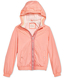 Jessica Simpson Hooded Bomber Jacket, Big Girls