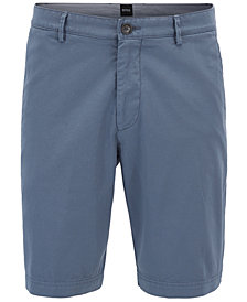BOSS Men's Regular/Classic-Fit Stretch Cotton Gabardine Shorts