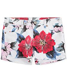 Levi's® Floral-Print Jet Set Shorty Shorts, Big Girls