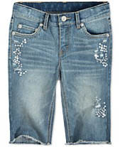 8e51abd7 Levi's® Sequin Seaside Bermuda Shorts, Big Girls