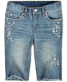 Levi's® Sequin Seaside Bermuda Shorts, Big Girls