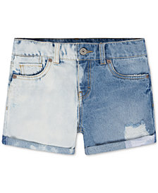 Levi's® Cotton Colorblocked Girlfriend Shorty Shorts, Big Girls