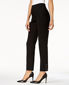 JM Collection Lace-Up Ankle Pants, Created for Macy's