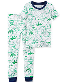 Carter's 2-Pc. Dinosaur-Print Cotton Pajamas, Little Boys & Big Boys