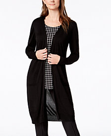 Alfani Petite Open-Front Duster Cardigan, Created for Macy's
