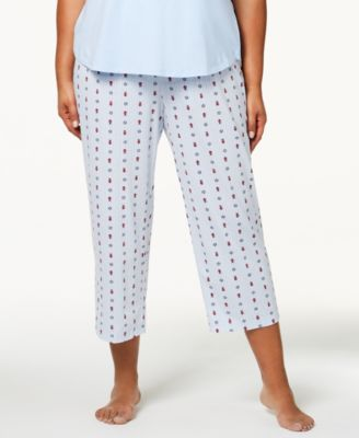 Plus Size Cotton Printed Pajama Pants, Created for Macy's