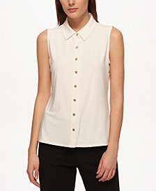 Tommy Hilfiger Sleeveless Button-Up Shirt