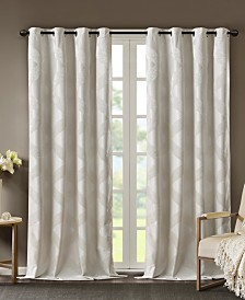 "SunSmart Bentley 50"" x 108"" Ogee Jacquard Total Blackout Window Panel"